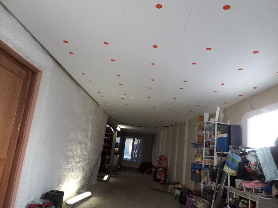 isolation du plafond de garage